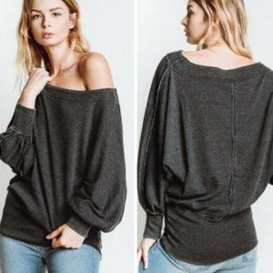 Free People We The Free Willow Waffle Knit Top - M